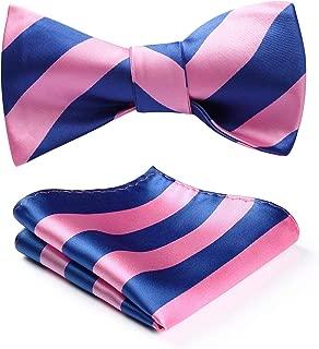 Men's Stripe Jacquard Woven Self Bow Tie Set
