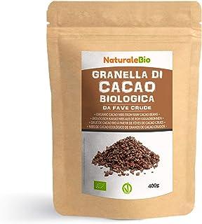 Nibs de Cacao Crudo Ecológico 400 g. 100 % Puntas de Cacao Bio, Natural y Puro. Cultivado en Perú a partir de la planta Th...