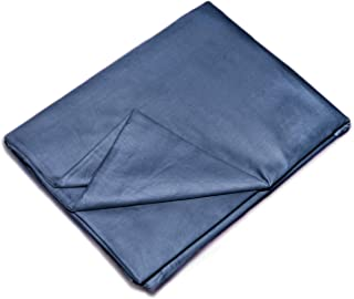 YEMYHOM 100% Cotton Removable Duvet Covers for Weighted Blankets Inner Layer (48'' x 72'' Duvet Cover, Blue)