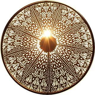 albena shop 71-6300 Rina oriental lámpara de pared estilo marroquí ø 48 cm metal negro / oro interior