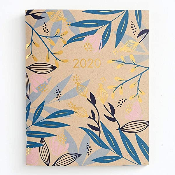 2020 Floral Booklet Academic Planner By Waste Not Paper