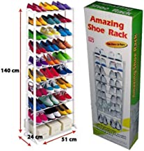 ELECTROPRIME Amazing Shoe Rack 10 Tier Shoe Rack Organiser (Random Color)
