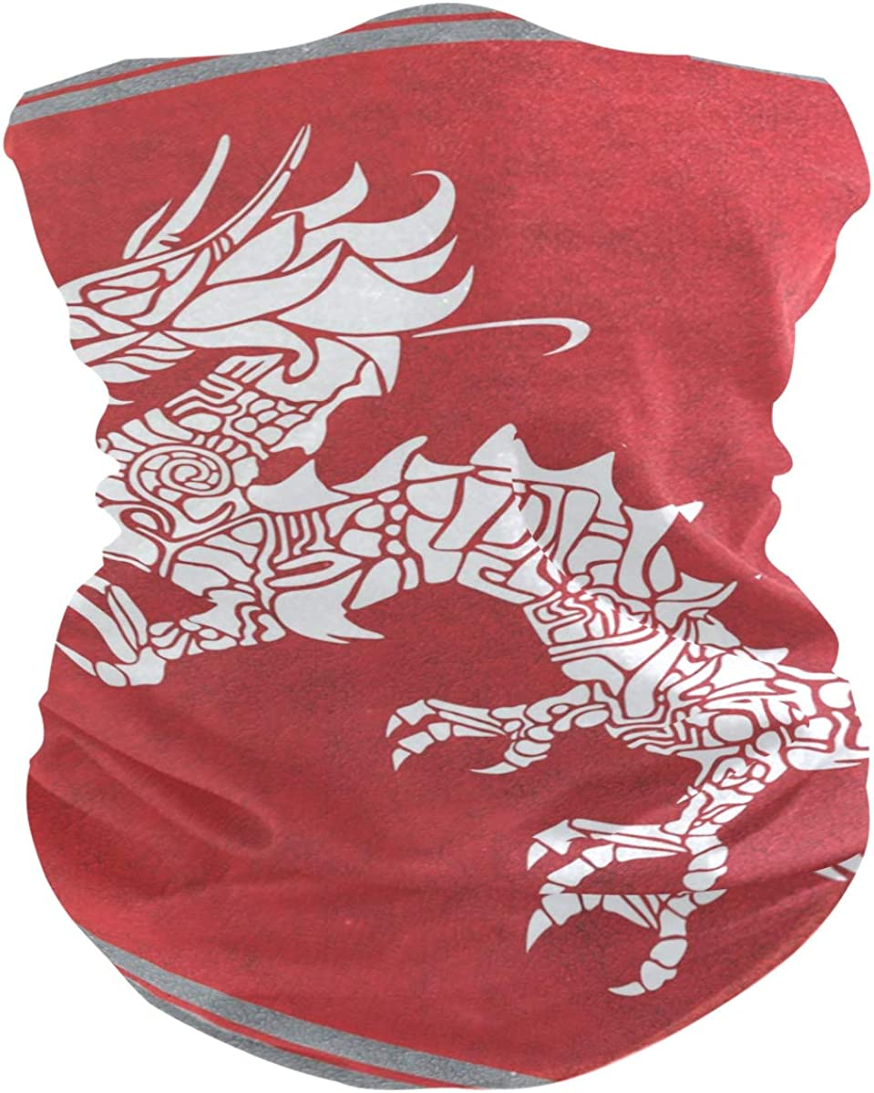 DragonPrint Headband Face UV Sun Protection Mask Neck Gaiter Magic Scarf Bandana Headwear Balaclava for Women Men
