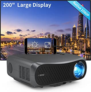 1080P Native Projector LED LCD 5500 Lumen Full HD Movie Gaming Projector 1920x1080 Multimedia HDMI USB VGA AV Audio Zoom f...