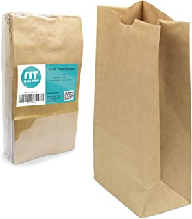 "[150 Pack] 12 LB 13 x 7 x 4.5"" Heavy Duty Kraft Paper Bags Grocery Lunch Retail Shopping Durable Natural Brown Barrel Sack"