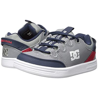 DC Kids Syntax (Little Kid/Big Kid) (Grey/Red/White) Boys Shoes