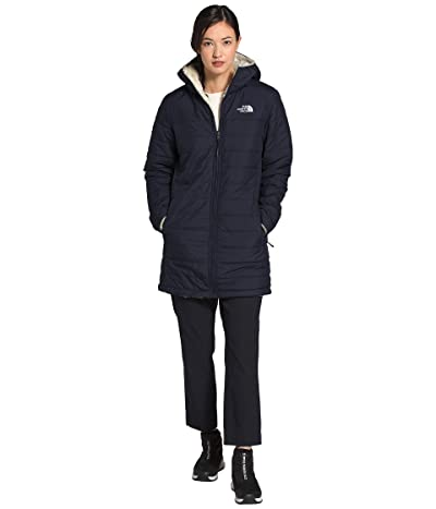 The North Face Mossbud Insulated Reversible Parka (Aviator Navy/Vintage White) Women
