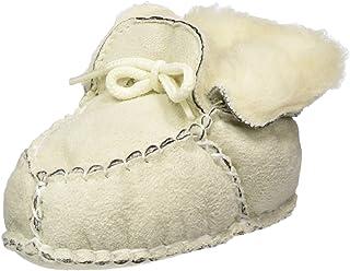Playshoes Pantoufles en Laine pour Nouveau-né, Chaussures pour Ramper Mixte Enfant