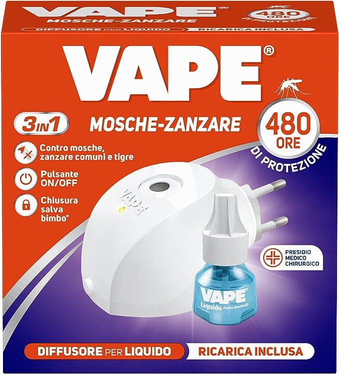 149 opinioni per Vape Diffusore Elettrico Liquido Giorno/Notte per Mosche e Zanzare, Durata 480