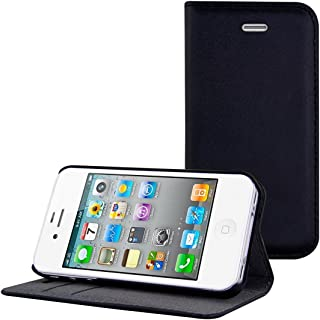 b02f48939ca kwmobile 1x Elegante funda de cuero sintético compatible con Apple iPhone 4  / 4S con cierre