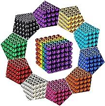 Ten Colors-3 MM-1000PCS QAZWSX 3 mm 1000 Pieces Magnetic Balls-Magnetic Sculpture Magnet Building Blocks Toys Desk Decor for Intelligence Development and Stress Relief for Adults