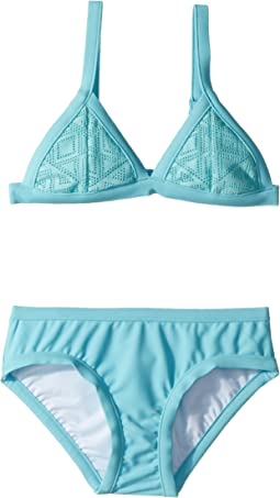 Seafolly Kids - Summer Essentials Tri Kini Set (Little Kids/Big Kids)