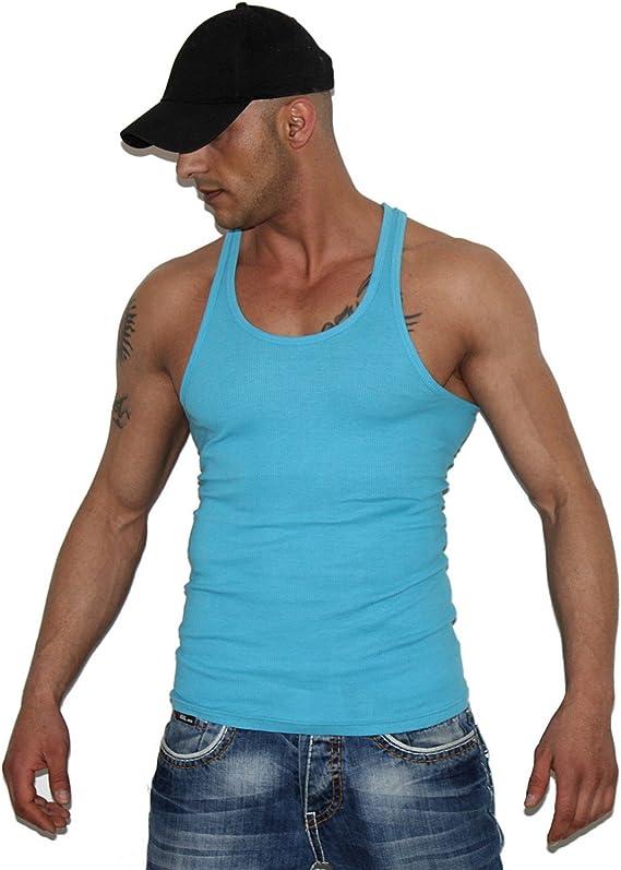 S//M  Top Tanktop T-Shirt achselshirt mt /%SALE Achsel-Shirt Muskelshirt Gr
