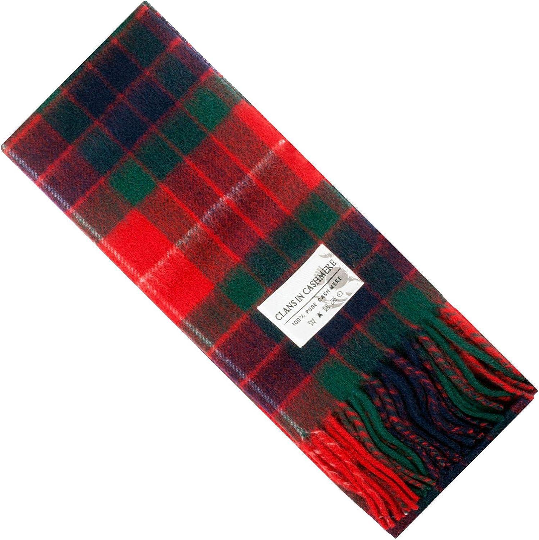 Cashmere Clan Scarf Fraser Red Modern