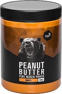 nu3 Erdnussbutter - Peanut Butter - 1 Kg pure natürliche Erdnussbutter, Erdnussmus Vegan & ohne Zucker, keine Zusätze von ...