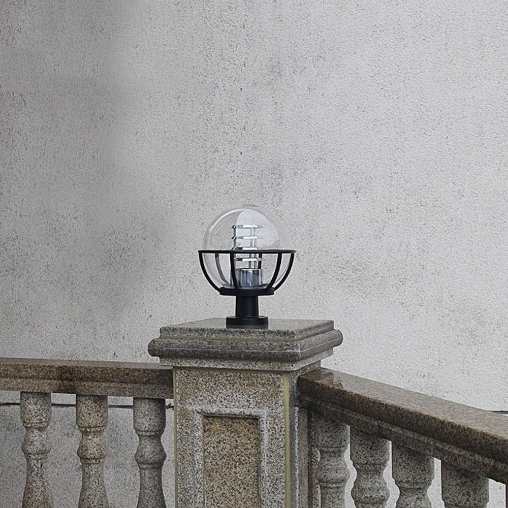 EASTYY Transparent Ball Column Headlight Outdoor Modern Simple Post Light Rainproof Metal Street Lamp Aluminum Alloy E27 Lamp Post Garden Lantern Pillar Pond Gate Waterproof Rust-Proof Column Lamp