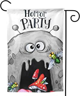 Halloween Ghosts Garden Flag Scary Party House Flag Vertical Double Sided Yard Outdoor Decor Party 12.5 X 18 Inch