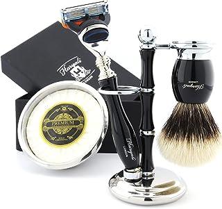 Profesjonalny zestaw do golenia dla fryzjera z wyborem salonu z luksusowymi produktami do golenia - męski zestaw do pielęg...