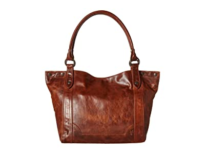 Frye Melissa Shoulder (Cognac Antique Pull Up) Shoulder Handbags