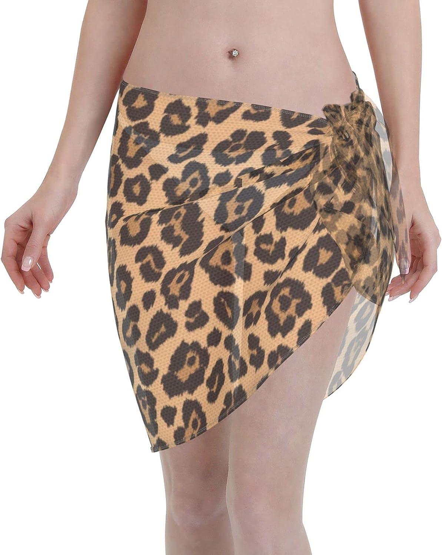 HGYDSB Swimsuit Cover Ups for Women Sarong Beach Wrap Sheer Short Skirt Bikini Chiffon Scarf for Swimwear.