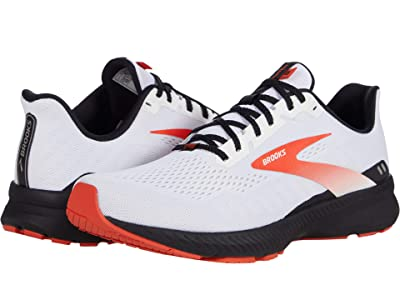 Brooks Launch 8 (White/Black/Red Clay) Men