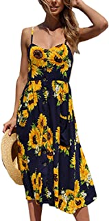 Women's Summer Dresses Casual Spaghetti Strap Floral...