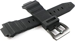 Swiss Legend 30MM Black Silicone Watch Strap Stainless Black Buckle fits 46mm Expedition Watch