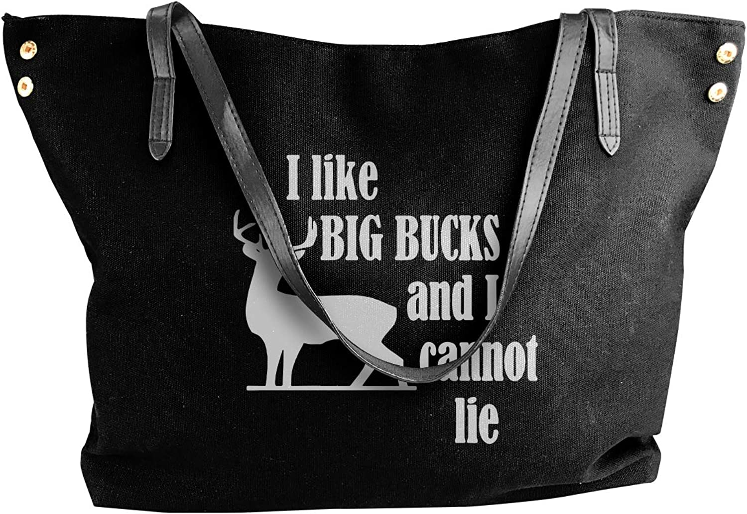 I Like Big Bucks And I Cannot Lie Women'S Casual Canvas Handbag For School Shoulder Tote