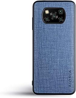 人気の新商品Xiaomi Poco X3 NFCケース スマホケース高級完全に保護 (Poco X3 NFC, Blue)