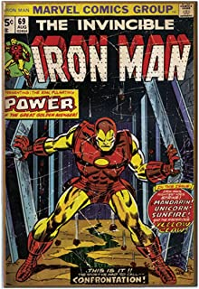 Silver Buffalo MV6636 Marvel Iron Man Power MDF Wood Wall Art, 13 x 19 inches