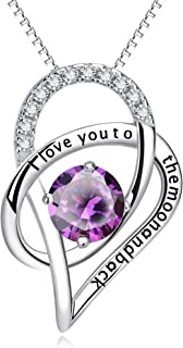 YFN Sterling Silver I Love You to The Moon and Back Love...