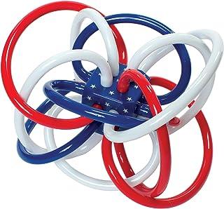 Manhattan Toy 曼哈顿玩具 摇铃和感官磨牙玩具 Red, White, and Blue Winkel