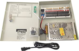 Evertech Power Box 18 Ch Channel 12V DC 10 A Power Supply Switch Box for CCTV DVR Security Camera