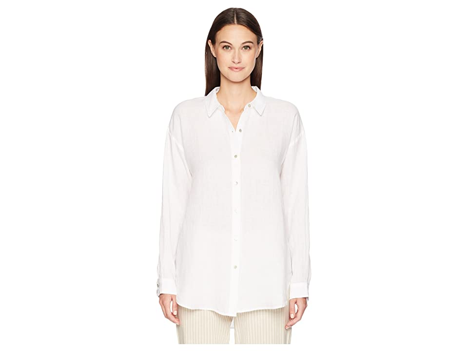 Eileen Fisher Classic Collar Shirt (White) Women