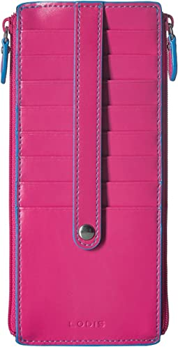 Audrey RFID Double Zip Card Case