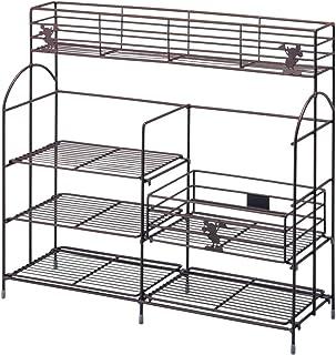 [ベルメゾン] ディズニー コンロサイドラック 棚の位置が変えられる キッチンラック ワイド
