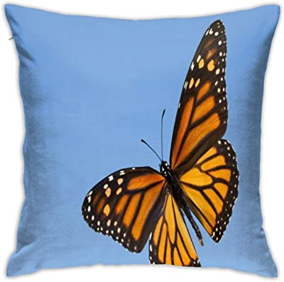 Blue Calico 100/% Polyester 19.5 x 13 with Photo-Real Printing and Great Home and Outdoor Decoration iConcern Butterfly Pillow