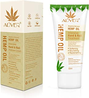 Hemp Hand & Nail Treatment creams, Advanced Moisturizing Repair Hand Cream with Natural Aloe and Pure Hemp Oil Extract,Non-greasy, for Rough & Dry Hands,Ideal Gift for Women 50ml