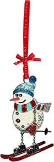 Bailey & Brooke Sparkle Snowman on Skis Decoration