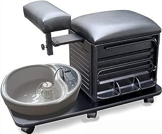 ProHairTools BLACK Pedicure Pal Complete Rolling Pedicure Station + Free Cape Co Apron ($20 value)