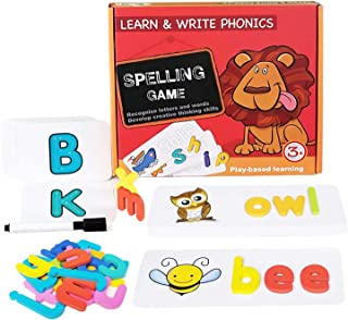 Sesuval Matching Letter Game,Letter Spelling and Reading Memory Game for Preschool Kindergarten Letter Writing and Matchin...