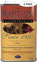 Title: Waterlox Original Sealer/Finish for Wood, Brick, Stone, Tile & More - 1 Quart (TB 5284) (Four Pack)