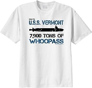 ShipShirts™ Men's SSN 792 USS Vermont 7,900 tons of Whoopass Short Sleeve T-Shirt