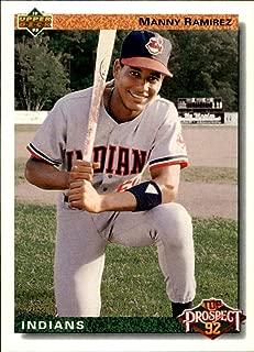 1992 Upper Deck #63 Manny Ramirez RC MLB Baseball Trading Card