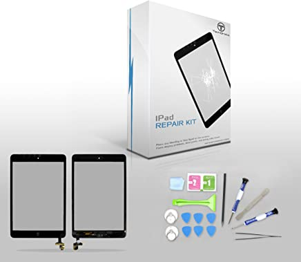 "TechOrbits IPAD Mini Touch Screen Digitizer Replacement 7.9"" Mini & Mini 2 Retina Display with IC Chip & Home button A1432 A1454 A1455 A1489 A1490 A1491 (AT&T/T-Mobile/Sprint/Verizon) Black Repair Kit"