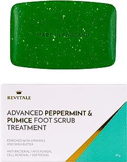 Revitale Advanced - Jabón para tratamiento de exfoliación de pies con menta y piedra pómez