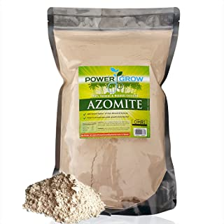 AZOMITE - 5 Pound Bulk Bag of Certified Organic Trace Mineral Fertilizer by PowerGrow