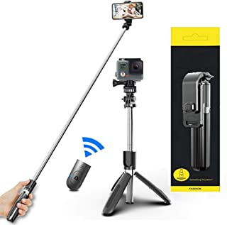 Selfie Stick For Phone Size 4.5-6.2Inch, Extendable Selfie Stick Tripod with Bluetooth Wireless Remote Phone Holder for iP...