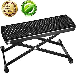 Guitar Foot Rest, Height Adjustable Guitar Footstools/Folding Footstool,Pedal (Black)