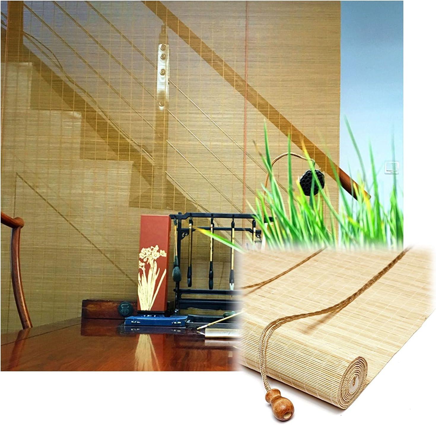 JUANJUAN Bamboo Roller Shade Large-scale sale Wood Darkening Direct sale of manufacturer Color Room Curtain
